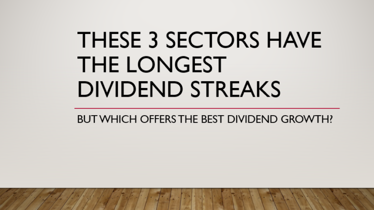 These 3 sectors have the longest dividend streaks, but which offers the best dividend growth?