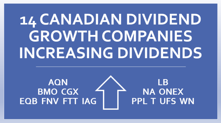 14 Canadian Dividend Growth Stocks Increasing Dividends