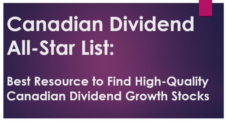 Canadian Dividend All-Star List: Best Resource to Find High-Quality Canadian Dividend Growth Stocks