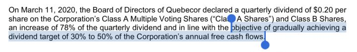 Quebecor Dividend Policy