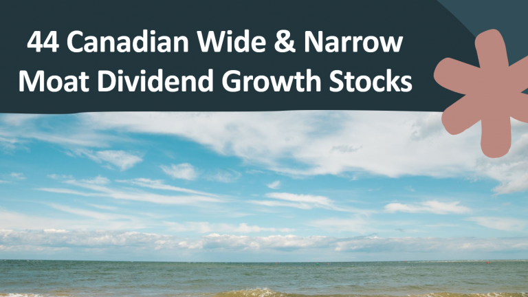 44 Canadian Wide & Narrow Moat Dividend Growth Stocks