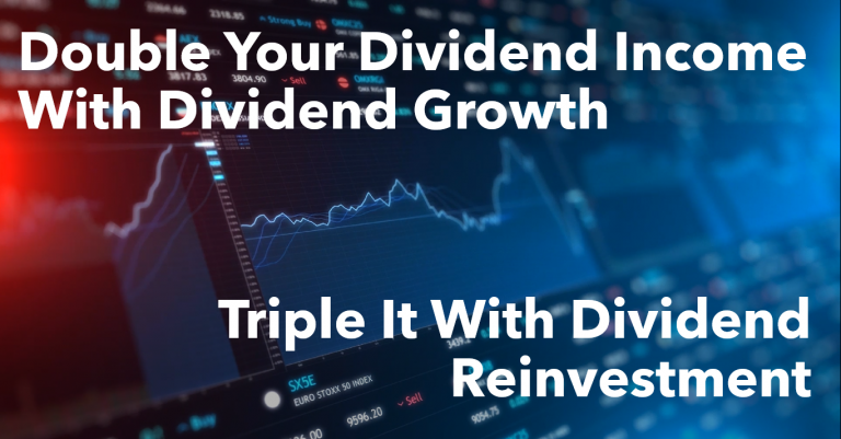 Double Your Dividend Income With Dividend Growth & Triple It With Dividend Reinvestment